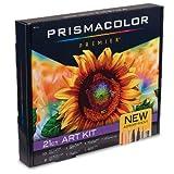 Prismacolor Premier Art Kit, Colored Pencils, Watercolor Pencils, Blender Pencil, Dual-Ended Art Markers, Mini Sharpener, 21 Pieces (Color: multi color)