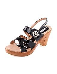 Aashka Women's Black Sandals - B015GW278Y