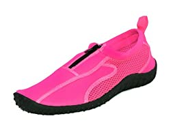 Rockin Footwear Kids Aqua Neon Zippers Pink Rubber Water Shoe Size 11