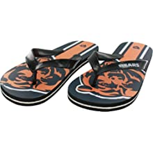 Chicago Bears Adult Unisex Big Logo Flip Flop Sandals, Small (Women's 7-8)
