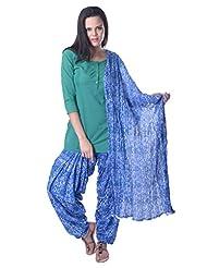 Vastra Vinod Teal Blue Salwar Suit