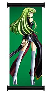 "Code Geass C.C. Anime Fabric Wall Scroll Poster (16""x48"") Inches"