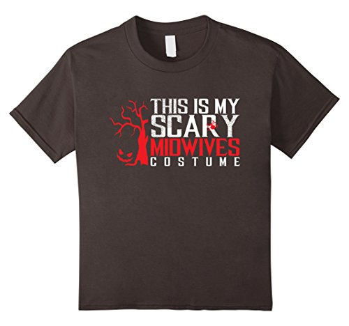 [Kids Halloween Scary MIDWIVES Costume Party Funny Gift T-shirt 8 Asphalt] (Midwife Costume For Kids)