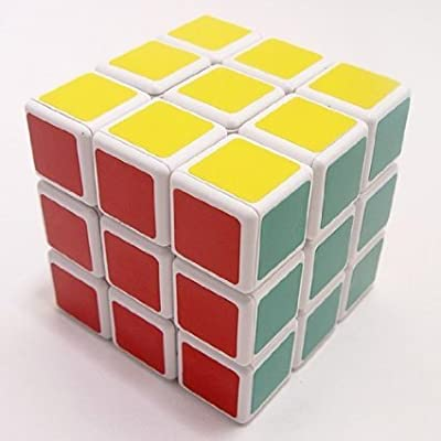 Johns Dollar Store Puzzle Magic Cube White & Black 6 Color by JOHNS DOLLAR STORE