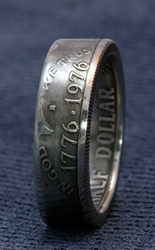 1976-Silver-Half-Dollar-Coin-Ring-JFK-Kennedy-40-Silver-US-50-Cent-Double-Sided-Coin-Ring-Sizes-7-17-40th-Birthday-40-Year-Wedding-Band-Anniversary-Gift-Unique-Mens-Womens-Rings