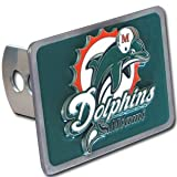 Miami Dolphins Large Zinc Trailer Hitch Cover - NFL Football Fan Shop Sports Team Merchandise at Amazon.com