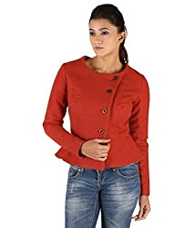 Owncraft Women's Woolen Jacket (Own_214_Red_XX-Large)