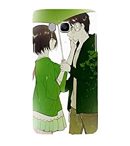 Printvisa Romantic Couple On A Rainy Day Back Case Cover for Samsung Galaxy J7 (2016)::Samsung J710F