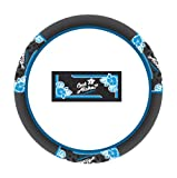 Got Aloha Blue Hibiscus Hawaiian Car Truck SUV Steering Wheel Cover
