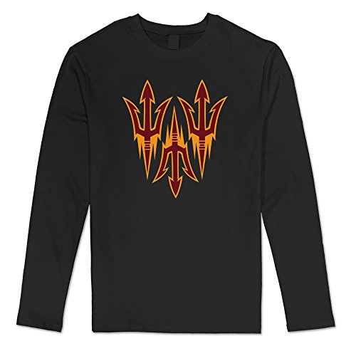Sasha Men's Arizona State Sun Devils Tshirt Black 100% Cotton (Metallica Devil Shirt compare prices)