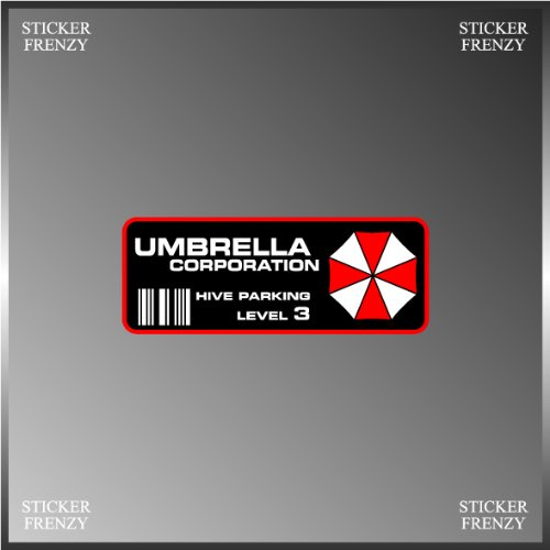 Resident Evil Umbrella Corp. Parking Decal Vinyl Decal Bumper Sticker 2