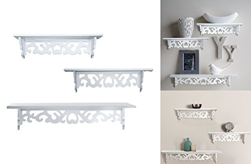 Decor Hut Set of 3 Floating wall shelves, great for books or collections, add design and taste to your room!