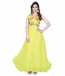 SD Creation Yellow Digital Printed Gown