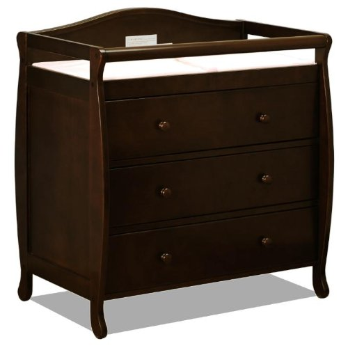 Baby Mile Eve 3-Drawer Changing Table - Espresso front-35334