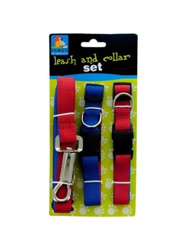 Kole KI-DI532 Dual-Colored Nylon Leash & Collars Set, One Size - 1