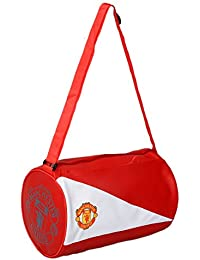 Kuber Industries™ Soft Leather 12 Ltrs Gym Bag (White & Red)-KI19404