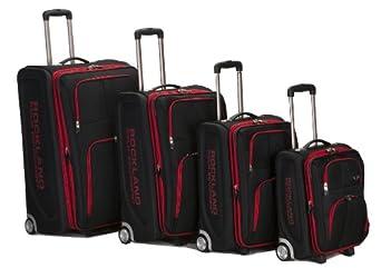 Rockland Luggage Varsity Polo Equipment 4 Piece Luggage Set, Black, One Size