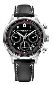 Baume & Mercier Men's 10001 Capeland Chronograph Black Chronograph Dial Watch by Baume & Mercier
