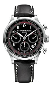 Baume & Mercier Men's 10001 Capeland Chronograph Black Chronograph Dial Watch