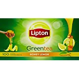 Lipton Honey Lemon Green Tea Bags, 160g (100 Pieces)
