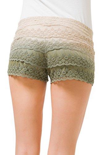 GAS LENYE SHORT 0884 Pantaloni corti donna Shorts pizzo foderati con rouches