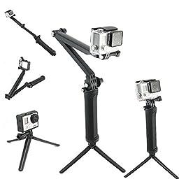 Selfie Stick, CaseUp 3-Way Foldable Selfie Stick for GoPro Hero4 3+ 3