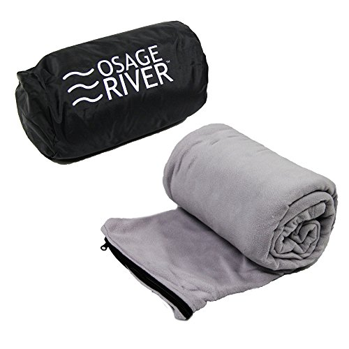 Osage River Microfiber Fleece Zippered Sleeping Bag Liner with Carry Storage Bag (Micro Sleeping Bag compare prices)