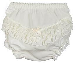 I.C. Collections Little Girls Ecru Batiste Rumba Panties, Size 06
