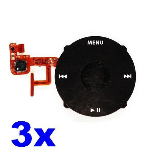 Neewer 3X Round Wheel Key Pad Replacement for Apple iPod Video 5th Gen 30GB 60GB & 80GB