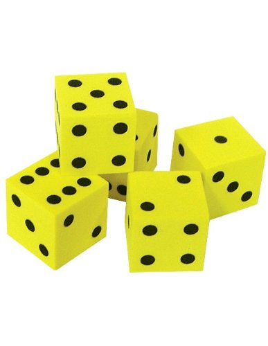 Teacher Created Resources Foam Traditional Dice (20603)