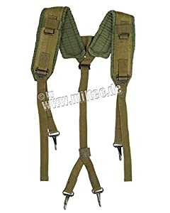 Mil-Tec Tactical Y-type LC2 ALICE Belt Suspenders Coyote by Mil-Tec