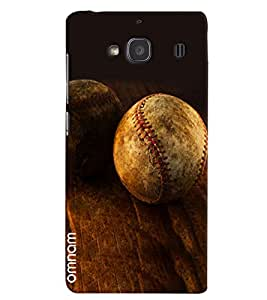 Omnam Leather Ball Lying On Woods Designer Back Cover Case For Xiomi Redmi Note 2