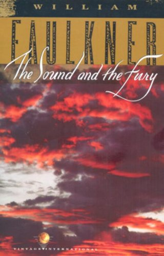 The cover of William Faulkner's The Sound and the Fury