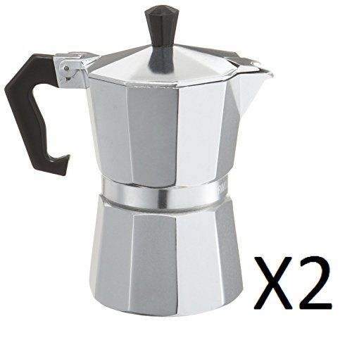 Primula Aluminum 3-Cup Stovetop Espresso Coffee Maker (Pack of 2)