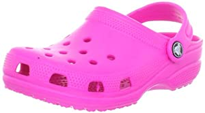 crocs Kids Classic Clog 10006, Neon Magenta, 12-13 M US Little Kid