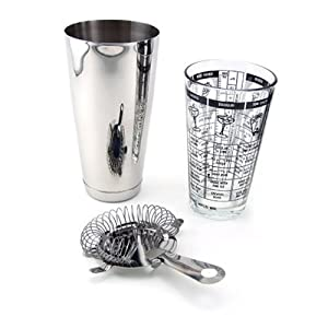 3 Piece Bar Cocktail Shaker Kit by Home Bar Source
