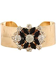 Ashiana Crystal Metal Gold Cuff Bracelet