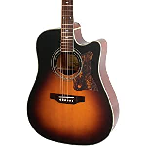 Epiphone DR 500MCE Acoustic Electric Guitar, Vintage Sunburst available at Amazon for Rs.92115