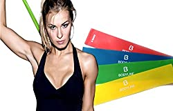 Best Exercise Loop Bands for Working Out - Resistance Bands - Used by Personal Trainers and Physical Therapy from BodyLine Fitness - Great Christmas Gift for Dads and Moms