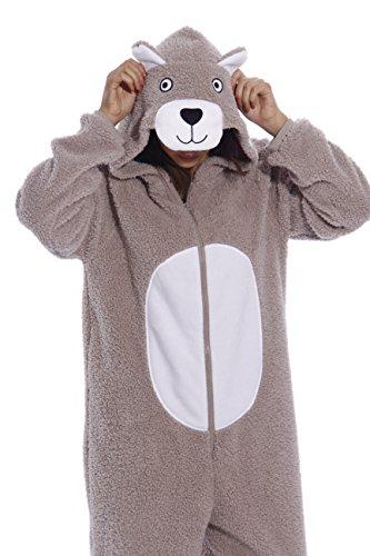 just-love-da-donna-adulto-onesie-pigiama-pigiama-teddy-bear-sherpa-x-large