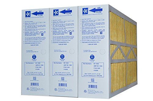 M1-1056 GENUINE ORIGINAL MERV 11 (Actual Size: 15-3/8 X 25-1/2 X 5-1/4) GOODMAN, ELECTRO-AIR, FIVE SEASONS, CARRIER, AMANA,TRANE, YORK, TOTALINE, BRYANT, REPLACEMENT MEDIA FILTERS CASE OF 3