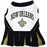 Pets First NFL New Orleans Saints Dog Cheerleader Dress, Small