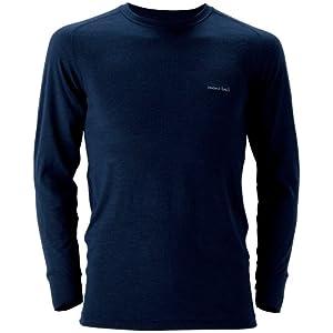 (モンベル)mont-bell スーパーメリノウールM.W.ラウンドネックシャツ Men\'s 1107235 NV ネイビー XL