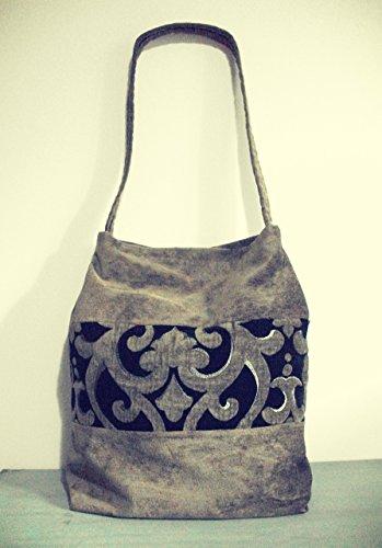 sac-hobo-tissu-damasse-et-velours-gris