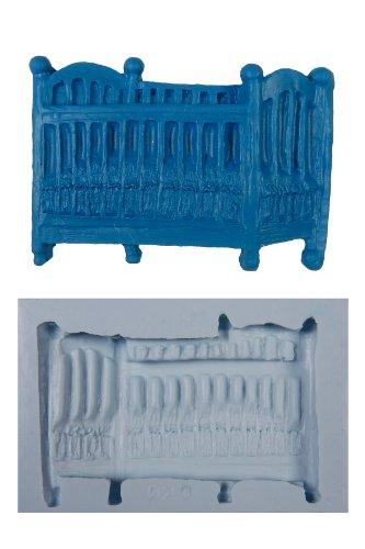 O.K Molds Silicone Cake Decorating Fondant Gompaste Supply Crib M4997