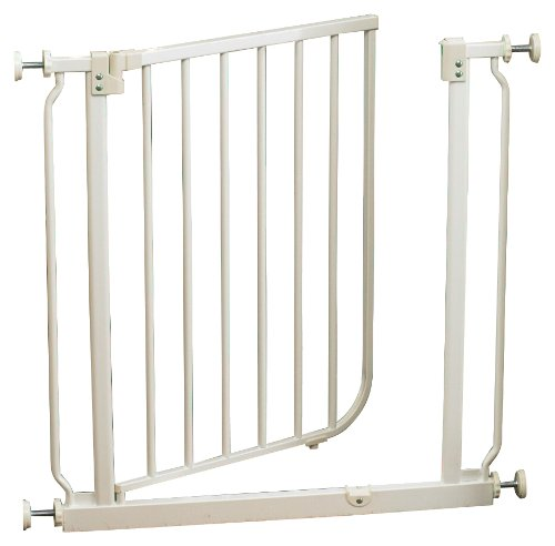 Supergate Easy Close Metal Gate, White