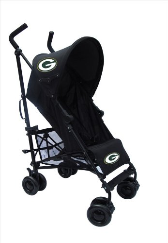 Green Bay Packers Black Umbrella Stroller front-847551