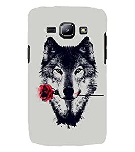 PRINTSWAG WOLF WITH ROSE Designer Back Cover Case for Samsung Galaxy J2
