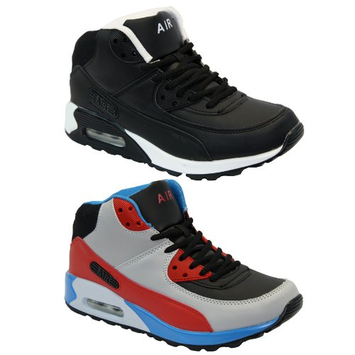 BARGAINS-GALORE® MENS LADIES HI TOP RUNNING TRAINERS CASUAL LACE GYM WALKING BOYS SPORTS SHOES