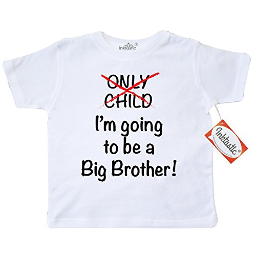 Inktastic Little Boys' I'm going to be a Big Brother! Toddler T-Shirt 4T White (Going To Be A Big Brother Shirt compare prices)